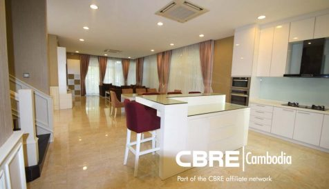 Modern 5 Bedroom Villa Available For Rent Tonle Bassac