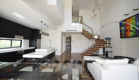 Design Winning Award 2-Bedroom Duplex Penthouse Tonle Bassac