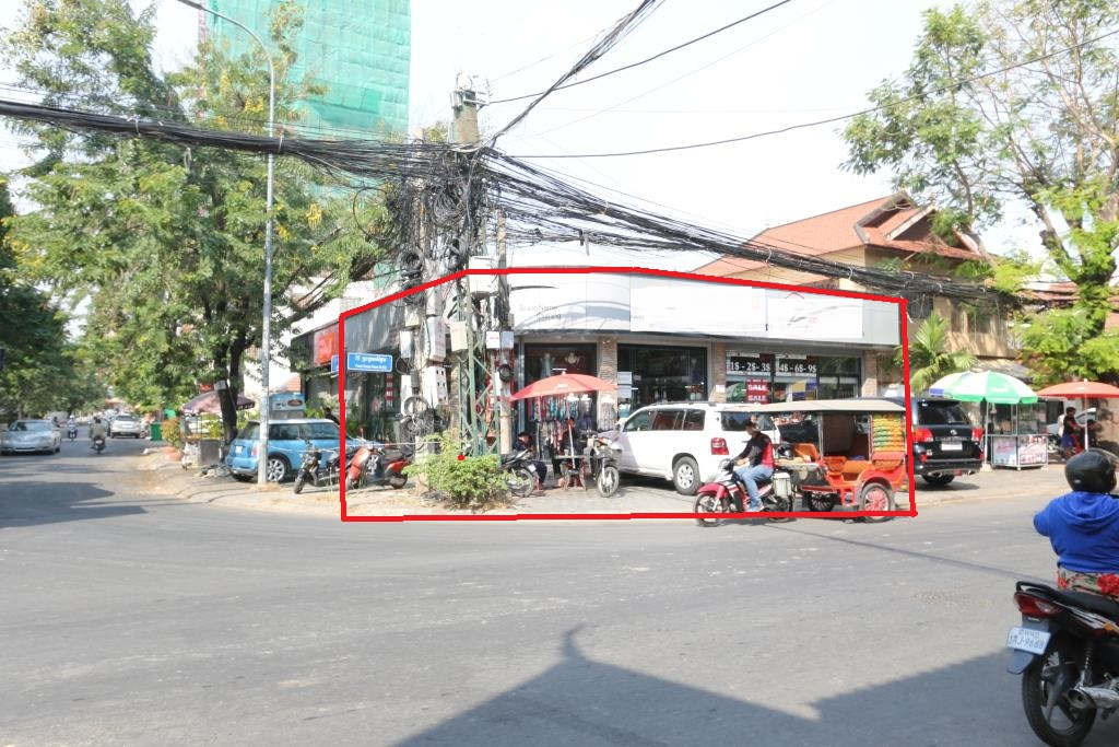 Corner Commercial Property close to BKK1 Tonle Bassac
