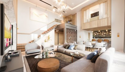 New 3-Bedroom Duplex Penthouse near Australian Embassy Tonle Bassac