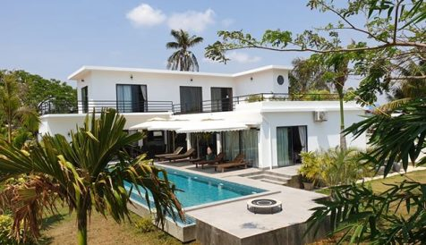 Land and Swimming Pool Villa for Sale close to Kep Beach